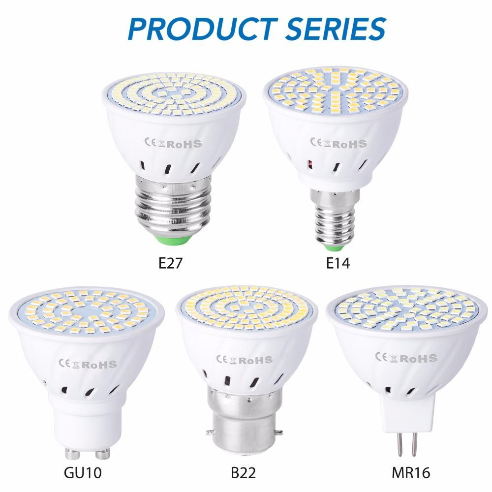 E27 Led Corn Bulb Gu10 Led Lamp E14 Spotlight Mr16 220v Lampada