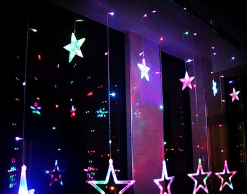 SALE Christmas Decorations for Home Star Curtain Lights Outdoor Led