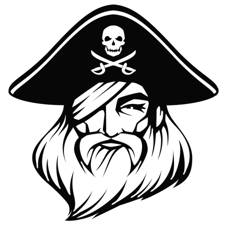 dessin tte du pirate barbe rouge a colorier - Tte De Mort Pirate