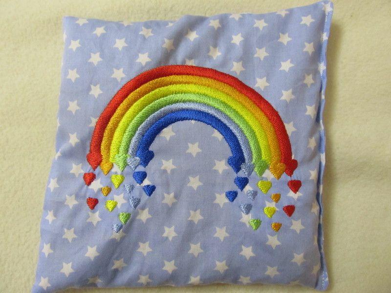 kirschkernkissen regenbogen von stick und naeh design auf handmade art pinterest. Black Bedroom Furniture Sets. Home Design Ideas