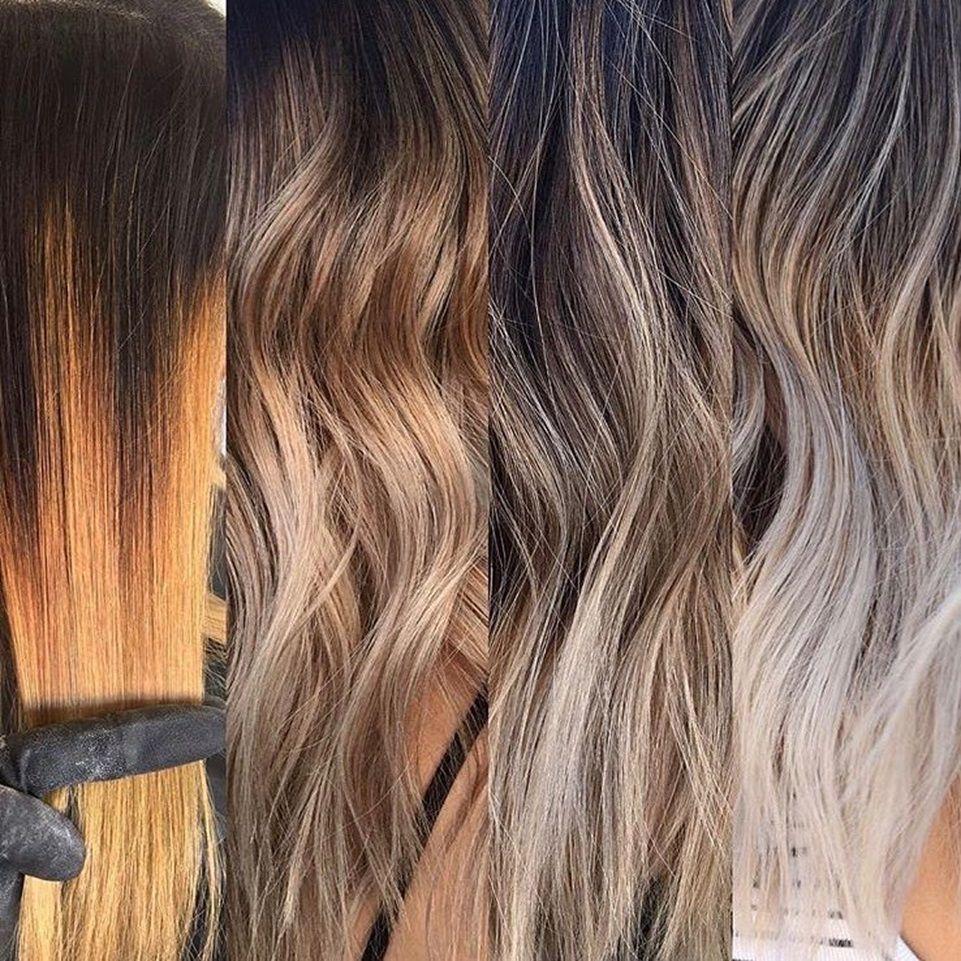 Brassy hair that was toned using shades eq brassy hair