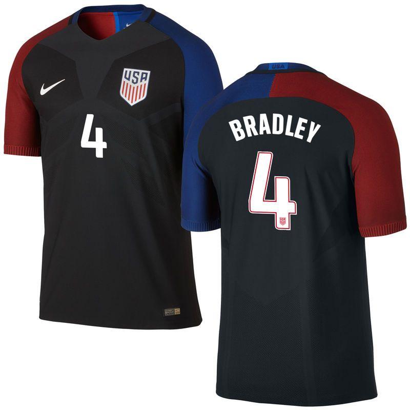michael bradley us soccer nike away authentic vapor match jersey black