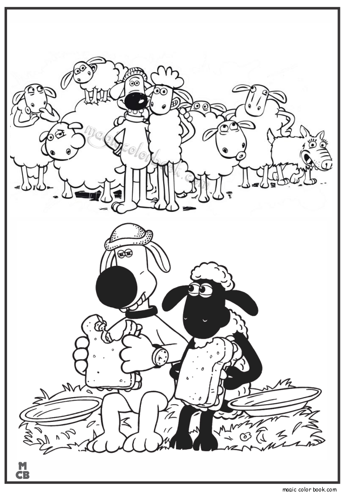 shaum sheep free printable coloring pages 44 Shaun the