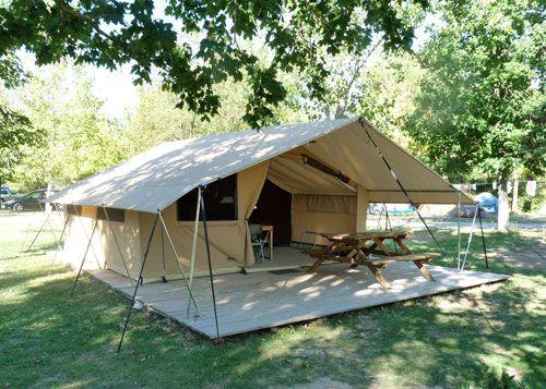 Tent Cabanon - C&ing les Tuillères & Tent Cabanon - Camping les Tuillères   Kamperen   Pinterest ...