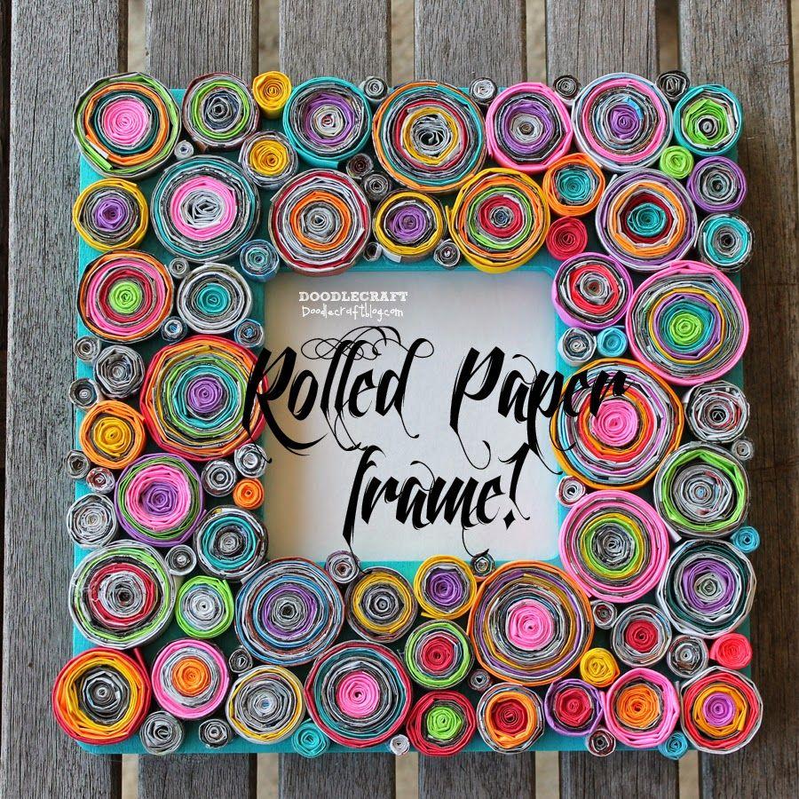 Doodlecraft Recycled Paper Crafts Frames Diy Crafts Paper Frames