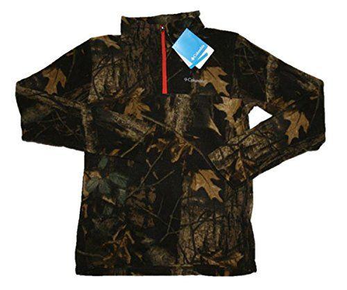 eceb19b9d63c Columbia Youth Boys Pine Ridge Camo Printed Half Zip Fleece Leaf ...