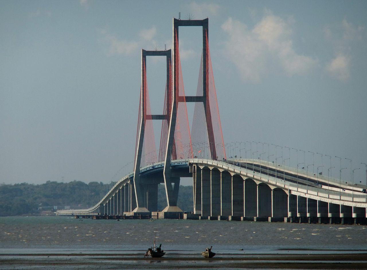 Suramadu Bridge, Indonesia. Opened June 10, 2009. connecting Surabaya and Madura Island.