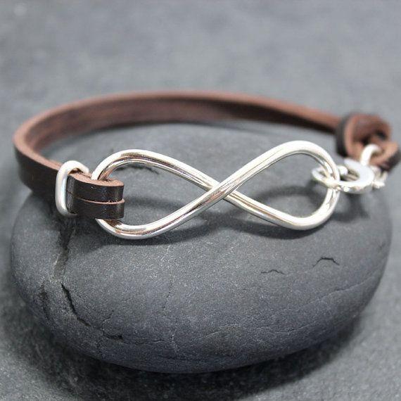 cuir de vache lourd infini bracelet pour homme f te des p res bijoux pinterest infinito. Black Bedroom Furniture Sets. Home Design Ideas