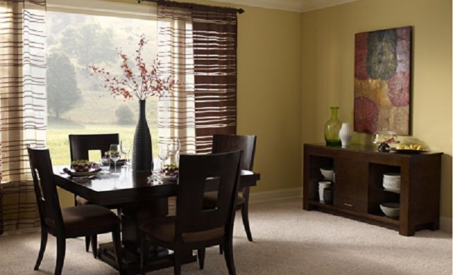 Modern Dining Room Decorating Ideas With Abstract Painting And