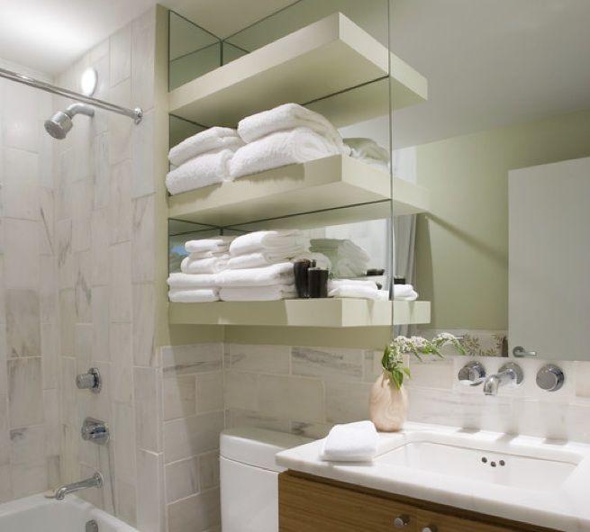 Estantes en ba os varios ejemplos for the home ba os for Repisas para banos pequenos