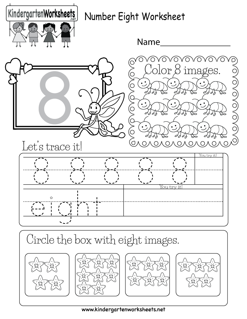 This Is A Fun Number 8 Worksheet Children Can Trace The Number