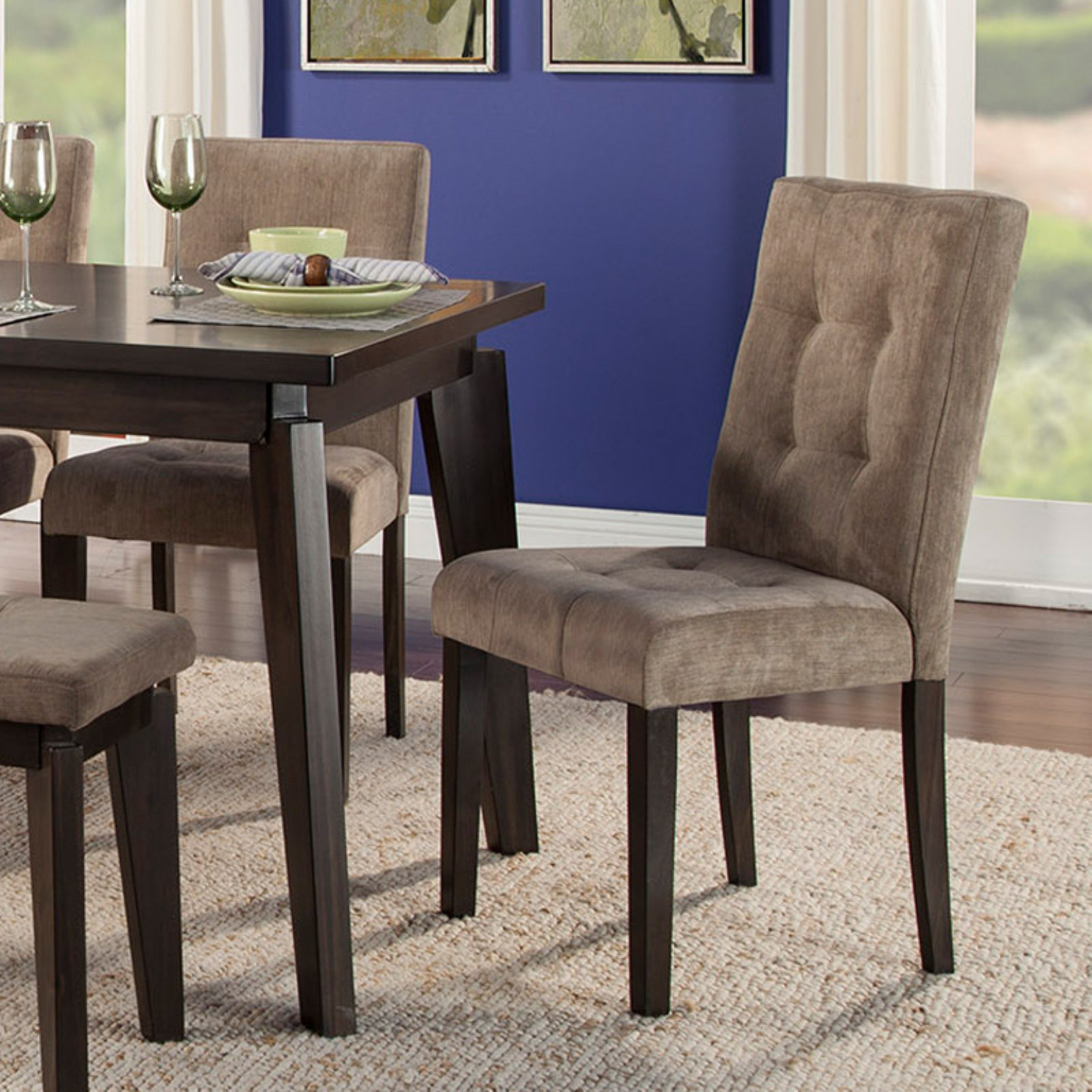 Miraculous Alpine Furniture Uptown Parson Dining Chair Set Of 2 In Short Links Chair Design For Home Short Linksinfo