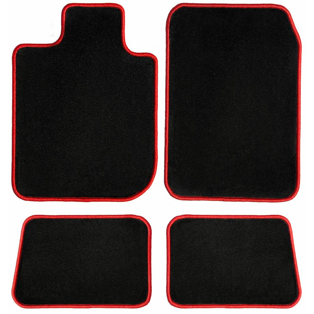 Ggbailey Ford F 150 Supercrew Black With 4 Piece Red Edging