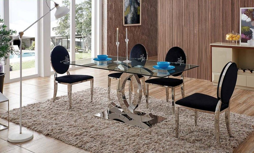 Chanel Dining Table With Black Chairs Luxury Dining Room Luxury Bedroom Furniture Bedroom Furniture Sets