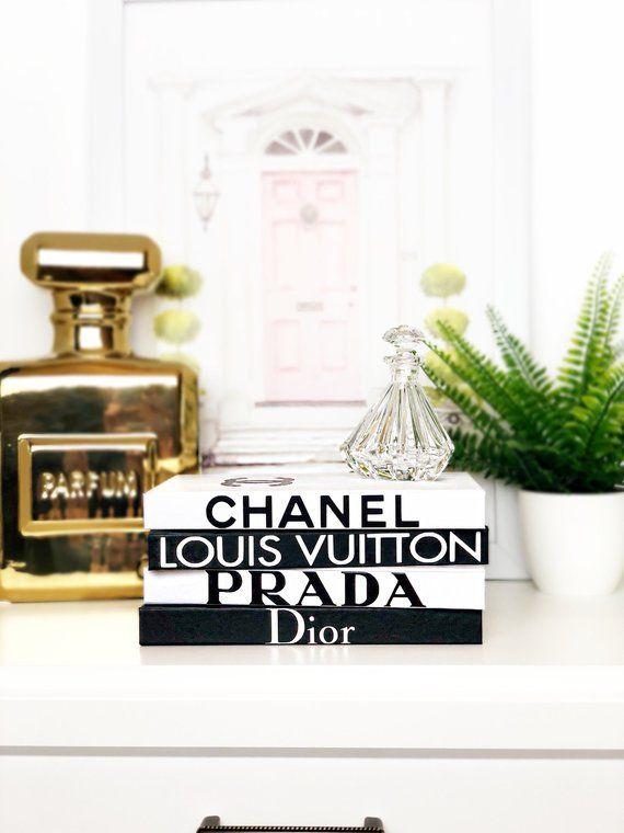 40 BOOKS Black White Designer Book Set Chanel Louis Vuitton Impressive Designer Books Decor