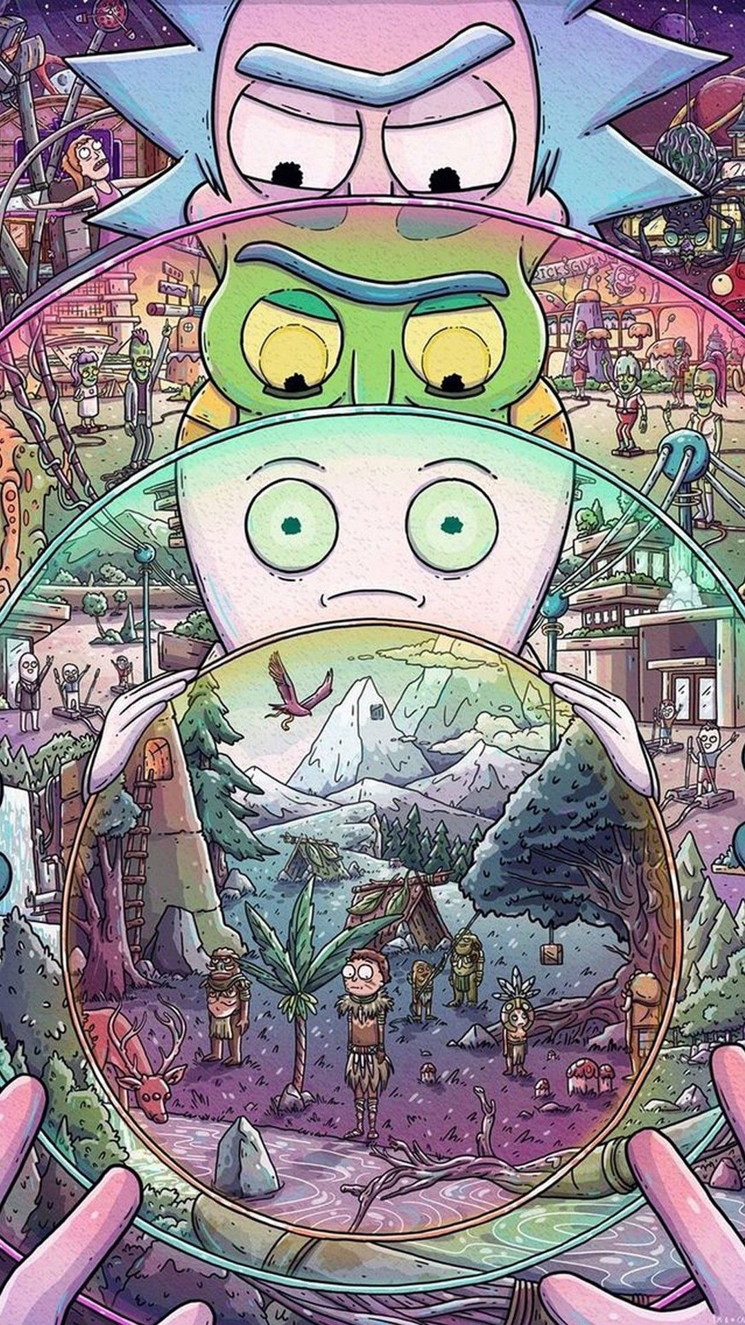 Rick And Morty Iphone X Wallpaper Com Imagens Wallpaper De