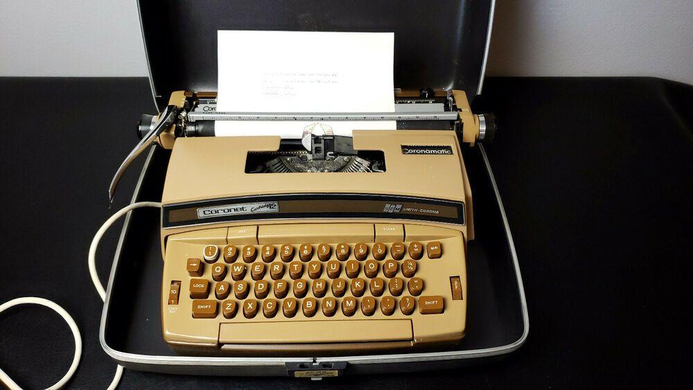 Vintage Smith Corona Cartridge 12 Coronamatic Electric Typewriter