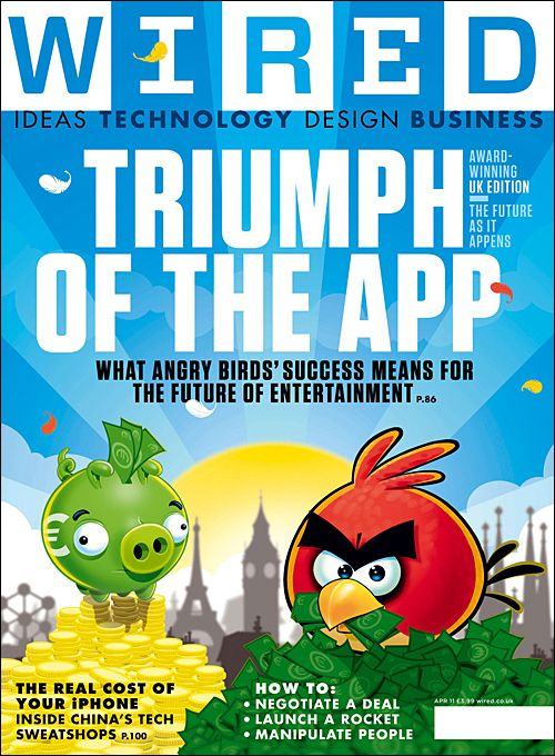 Angry Birds Wired Cover   Magazine Covers   Pinterest