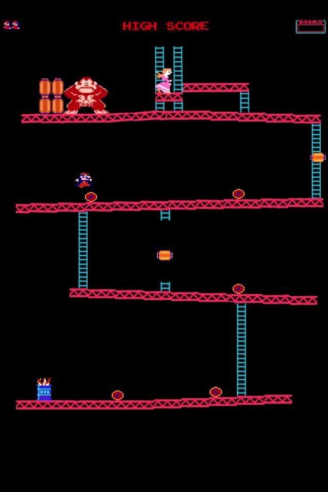 Mario Old Video Game Version Cellphone Wallpaper Wallpaper