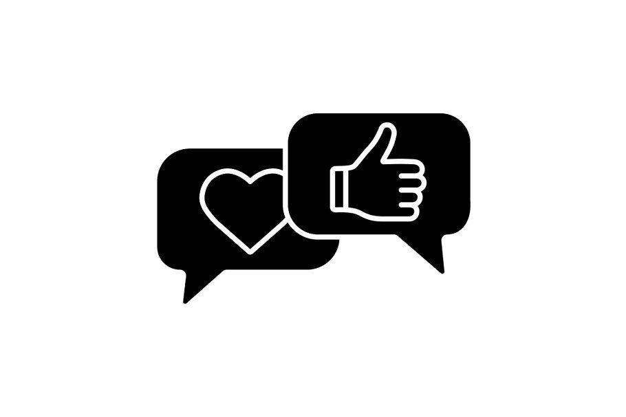 Customer Reviews Glyph Icon Glyph Icon Instagram Highlight Icons Word Art Design