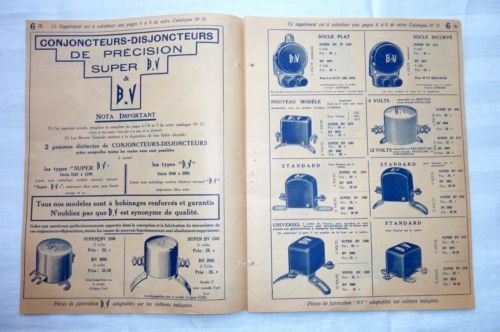 Conjoncteurs-Disjoncteurs-B-V-Citroen-Ford-Mathis-Americaine-etc-1934-Ref-07