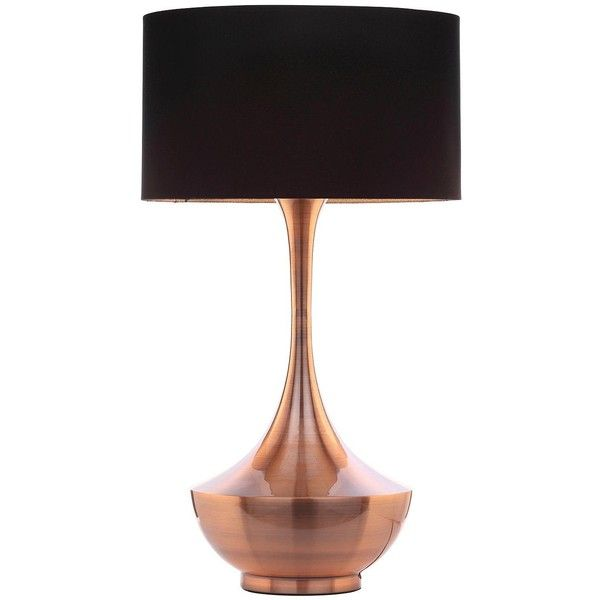 Copper Base Tall Table Lamp ($195) ❤ Liked On Polyvore Featuring Home,  Lighting