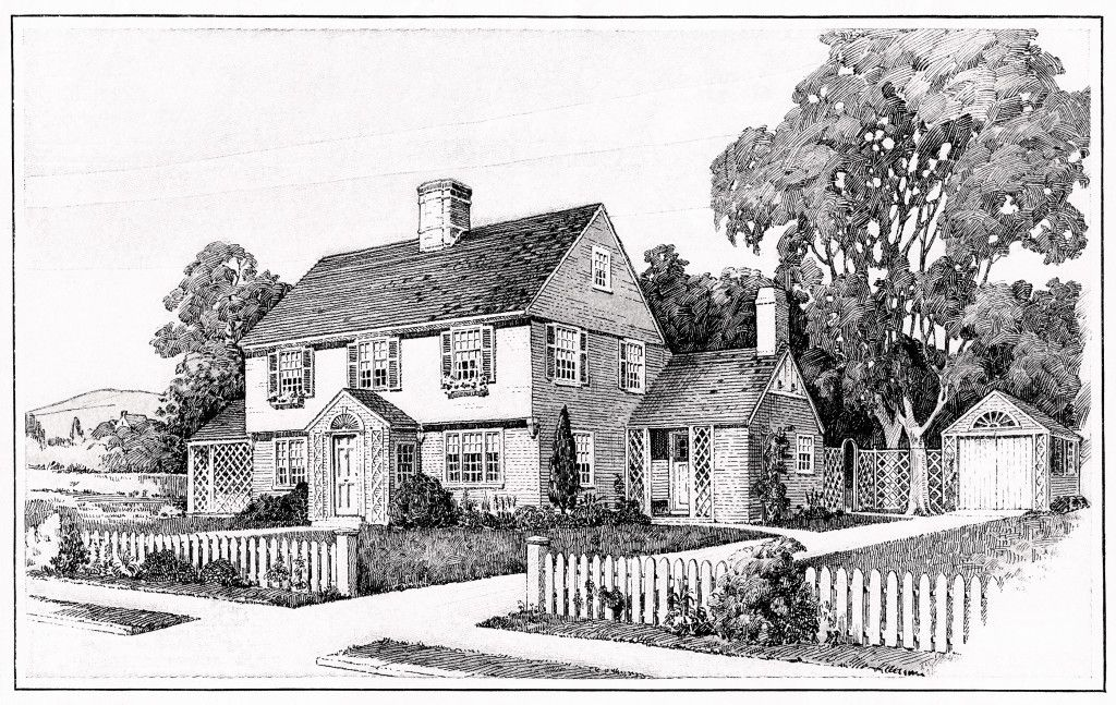 Vintage House Plans Old Fashioned Home Antique House