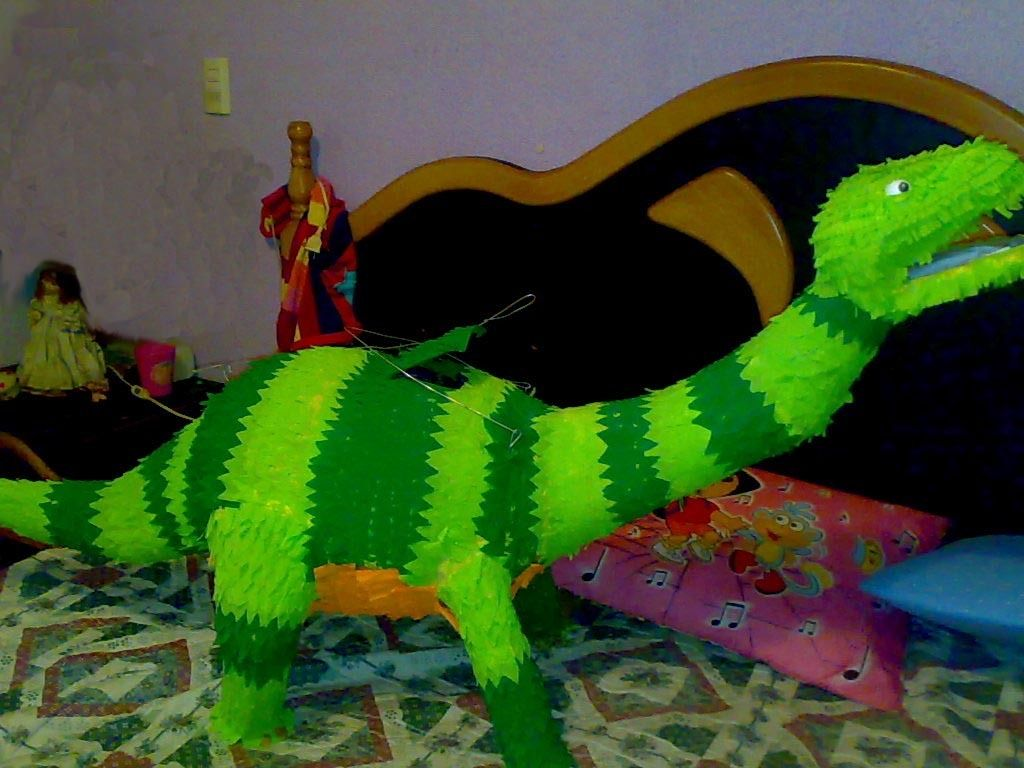 how to make a dinosaur pinata at home