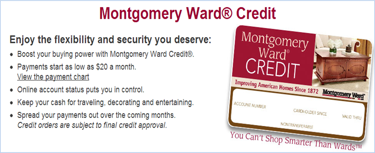 Montgomery Ward Buy Now Pay Later Credit Account Buy Now