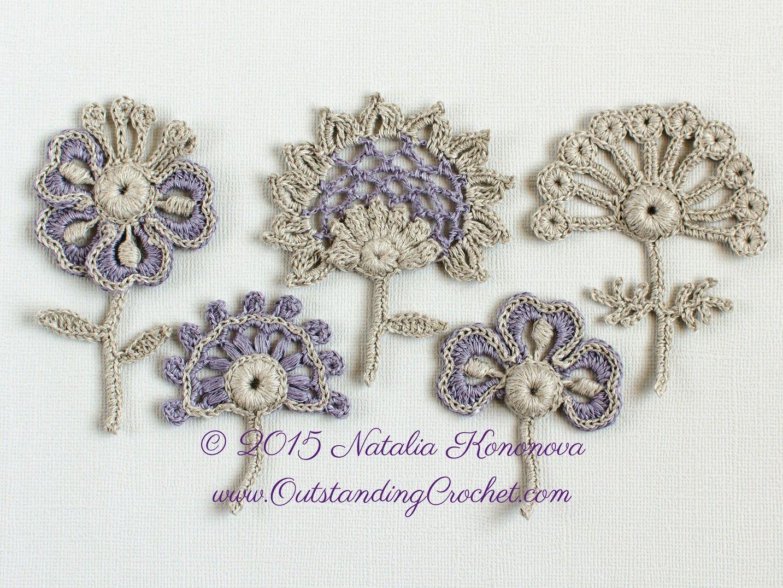 Outstanding Crochet: Sale - New Crochet Flower Motif Applique ...