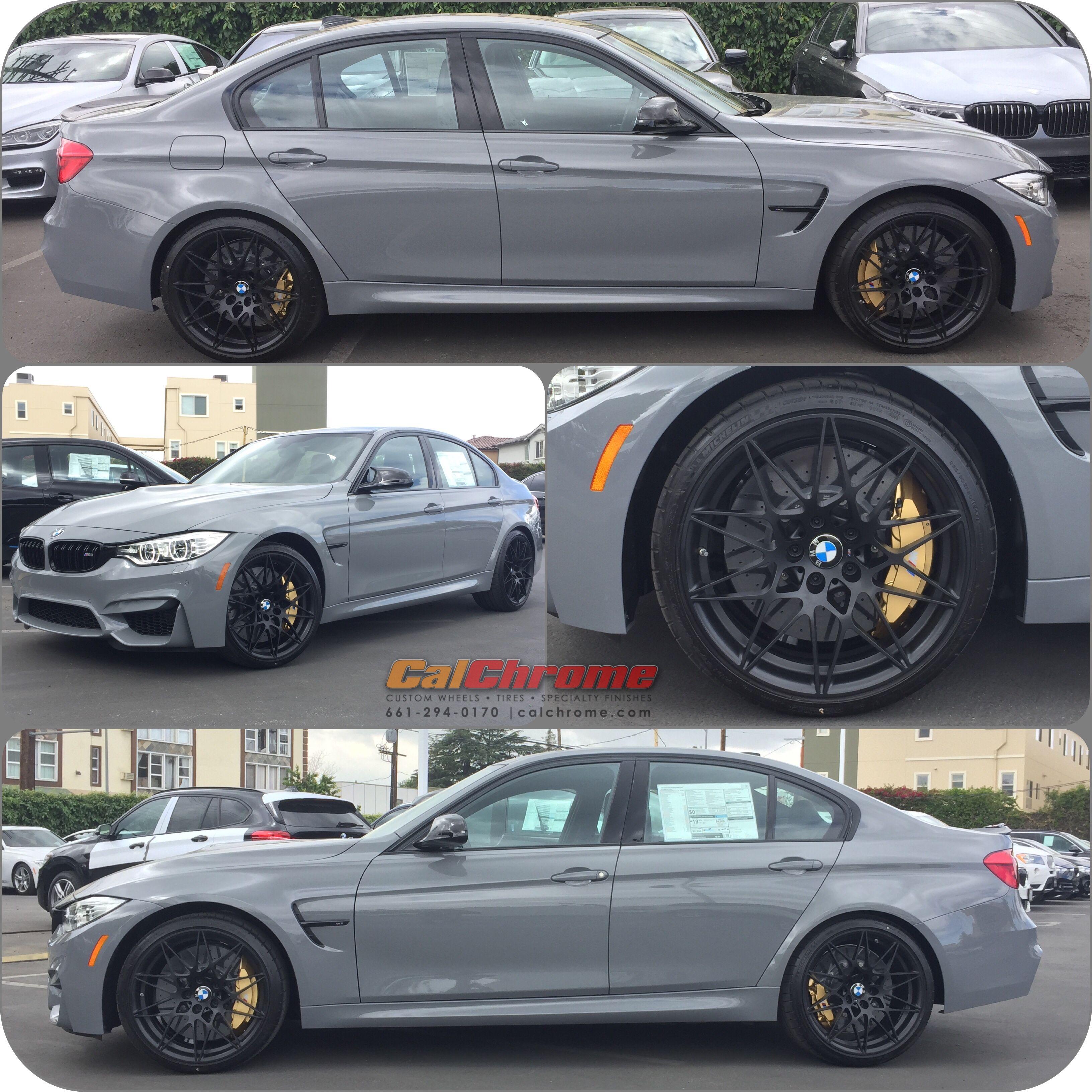 2017 Bmw M3: 2017 BMW M3 With Style 666 In Matte Black Fusion Powder
