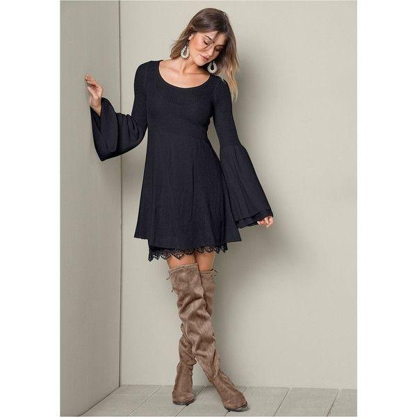 Venus Womens Boho Sweater Dress 44 Liked On Polyvore