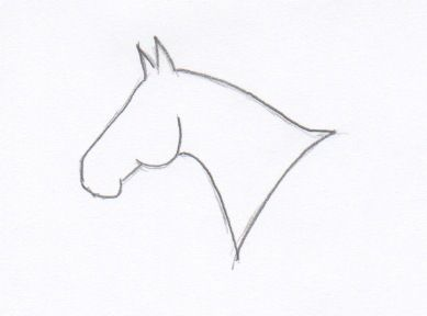 Simple Horse Head Outline For My Foot Or Wrist One Day Horse Tattoo Horse Head Drawing Horse Outline
