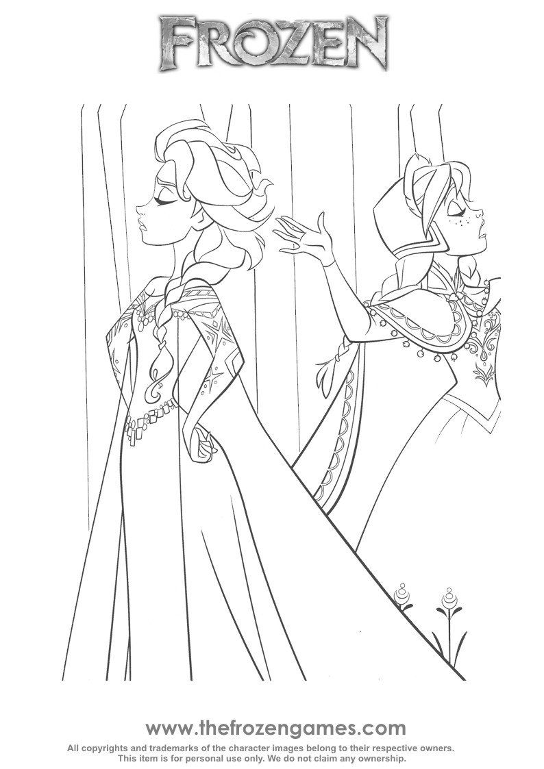 Elsa And Anna Coloring Pages Frozen Coloring Pages Anna And Elsa Having A Disagreement Rapunzel Coloring Pages Elsa Coloring Pages Frozen Coloring