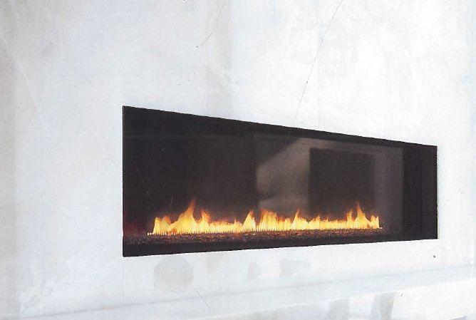 clean sleek fireplace
