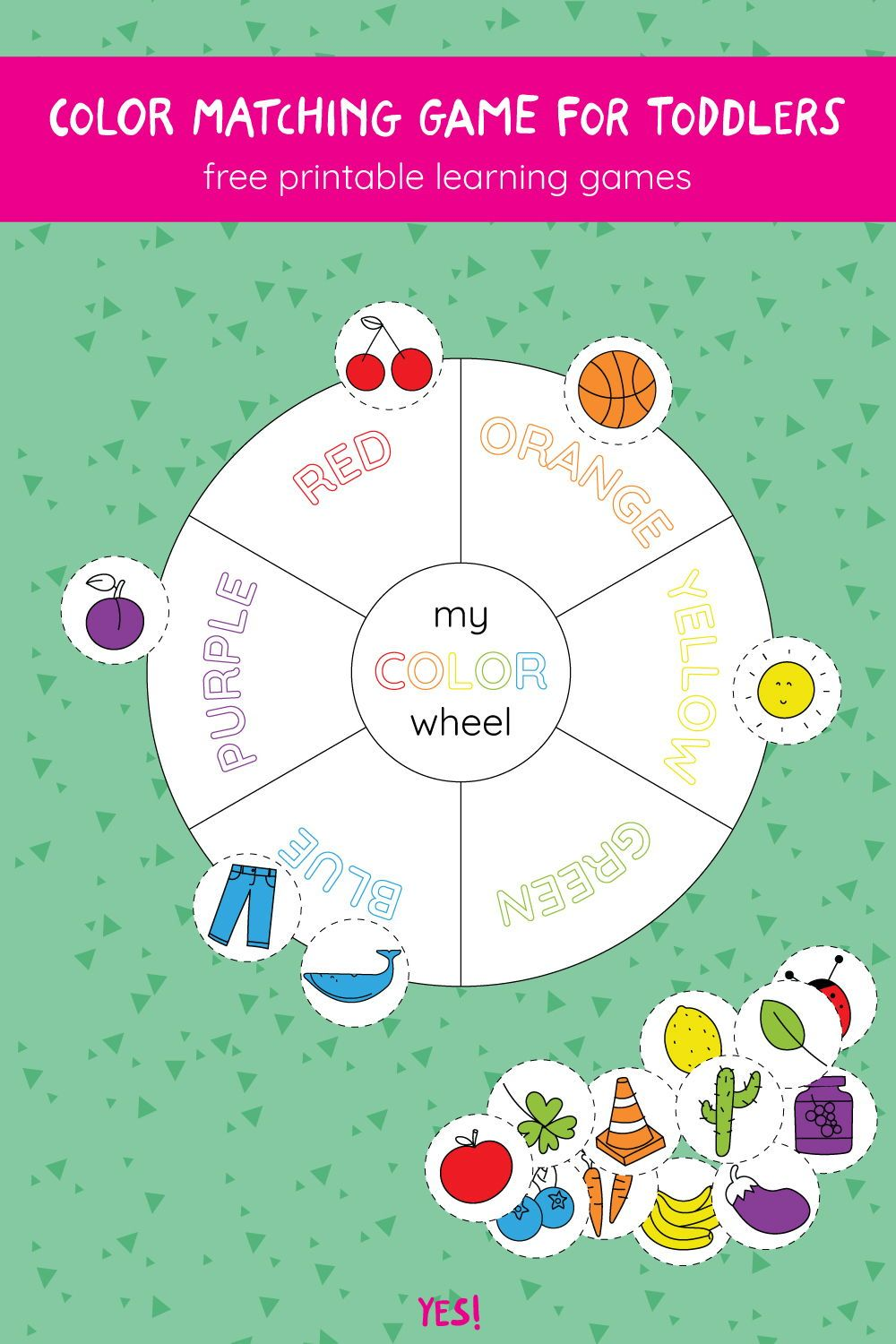 Color Wheel Game For Kids Printable Pdf Yes We Made This Color Wheel Worksheet Color Games For Toddlers Color Wheel