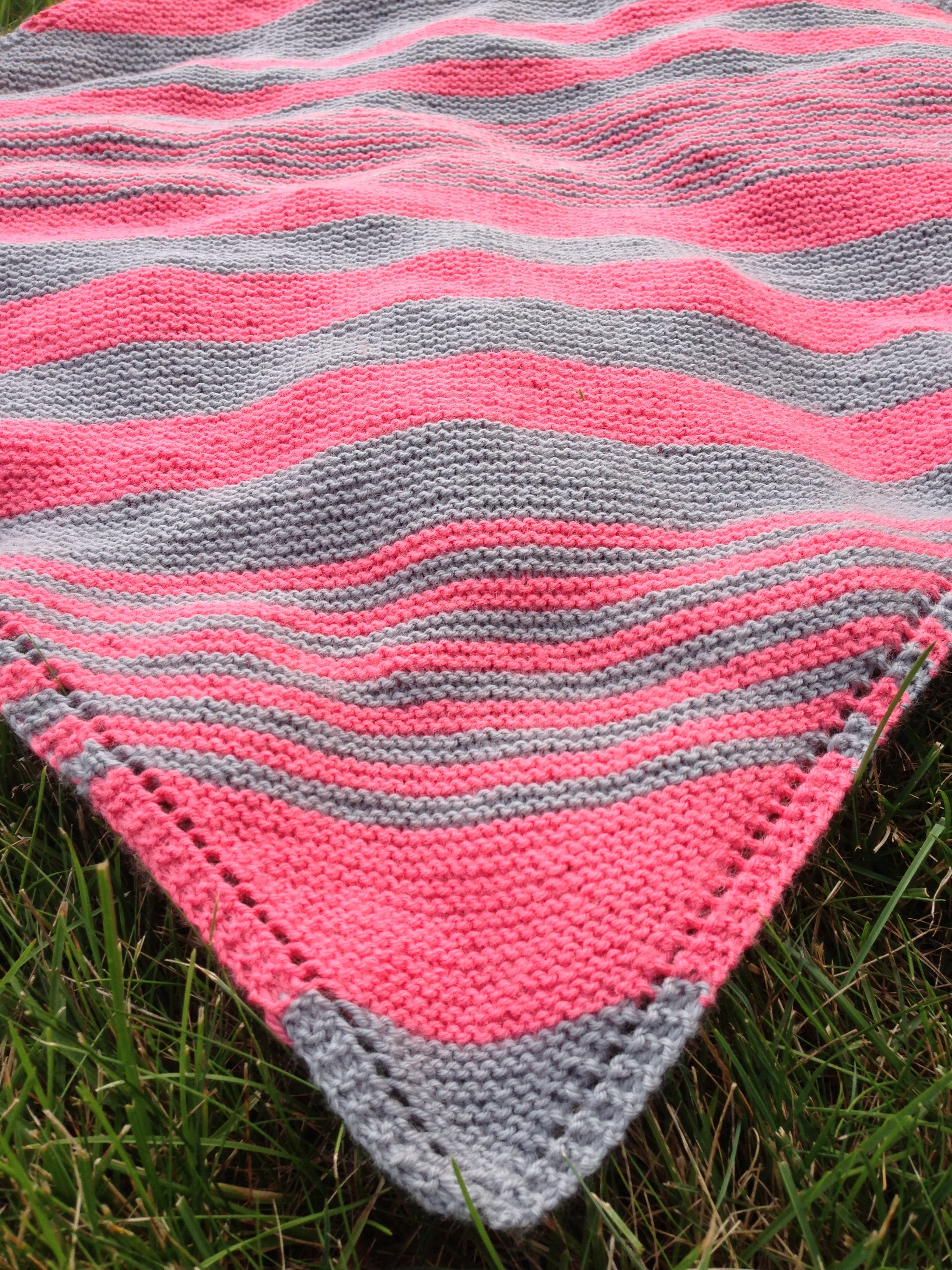 Knitting Blankets : Striped baby blanket knitting knit blankets pinterest