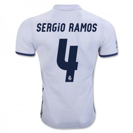 Real Madrid 16-17 #Sergio Ramos 4 Hemmatröja Kortärmad