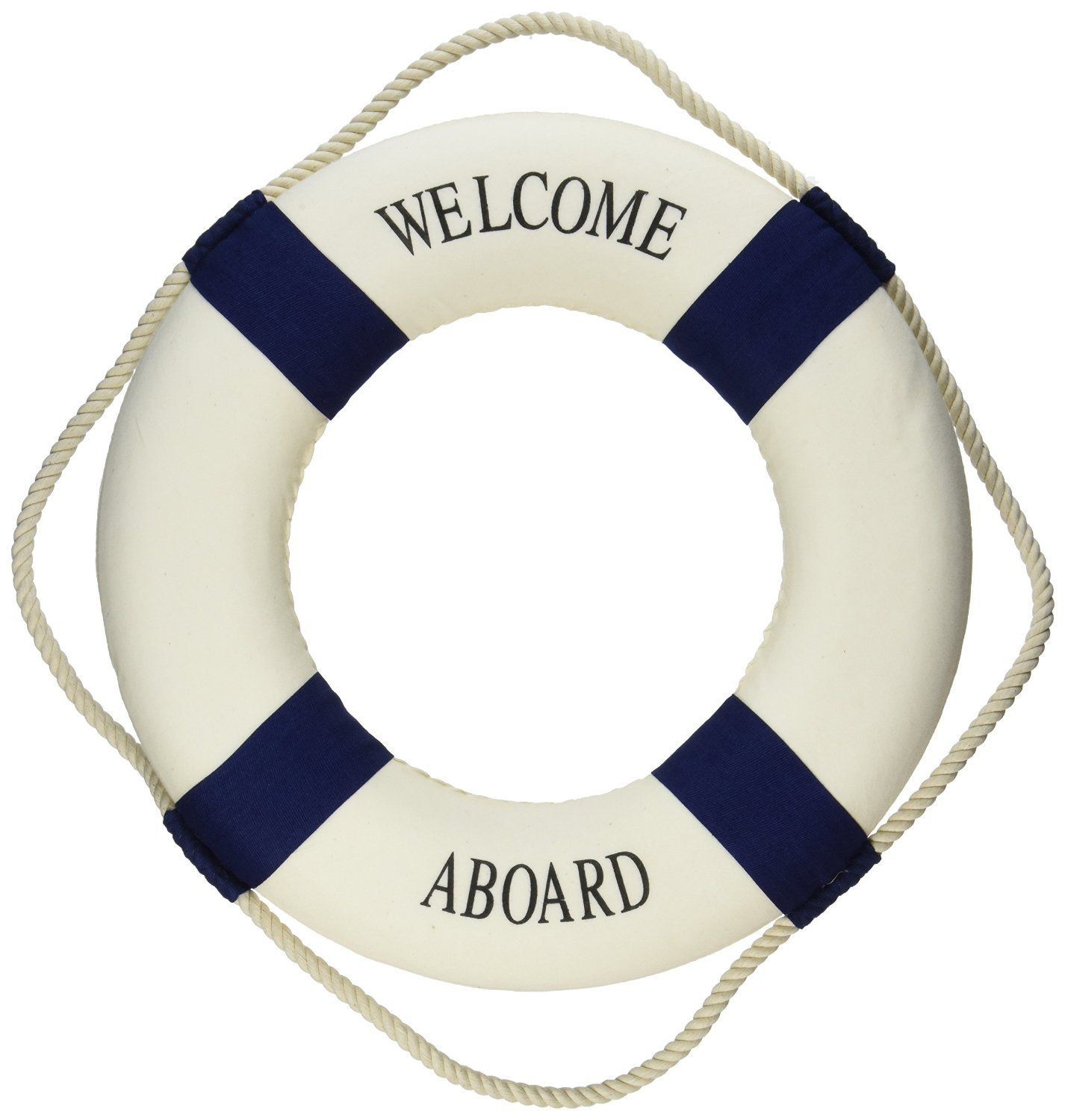 Nautical Decor Amazoncom Welcome Aboard Cloth Life Ring Navy Accent Nautical