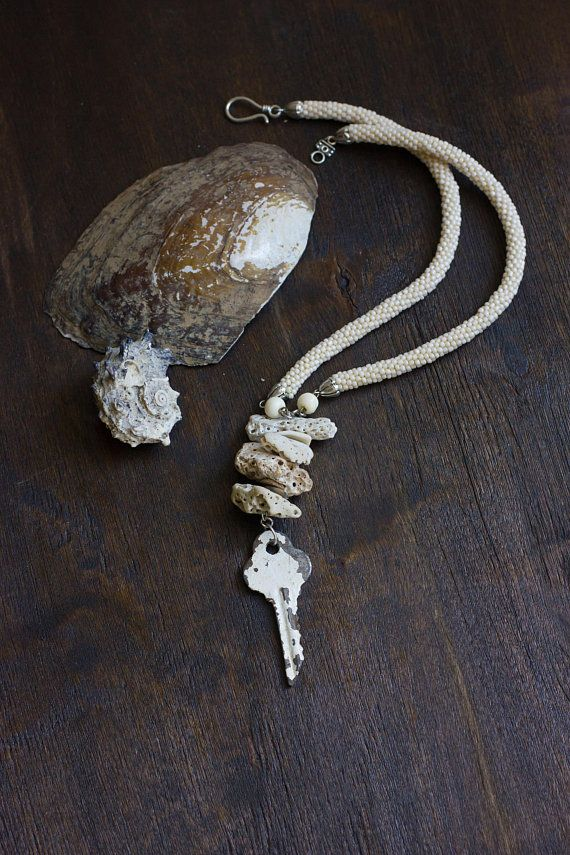 Old key necklace unusual necklace with key spiritual jewelry old key necklace unusual necklace with key spiritual jewelry vintage key pendant odd pendant necklace weathered boho summer necklace aloadofball Image collections