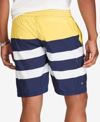 f1259e41cf Polo Ralph Lauren Men's Big & Tall Striped Kailua Swim Trunks - Surfer  Stripe XLT