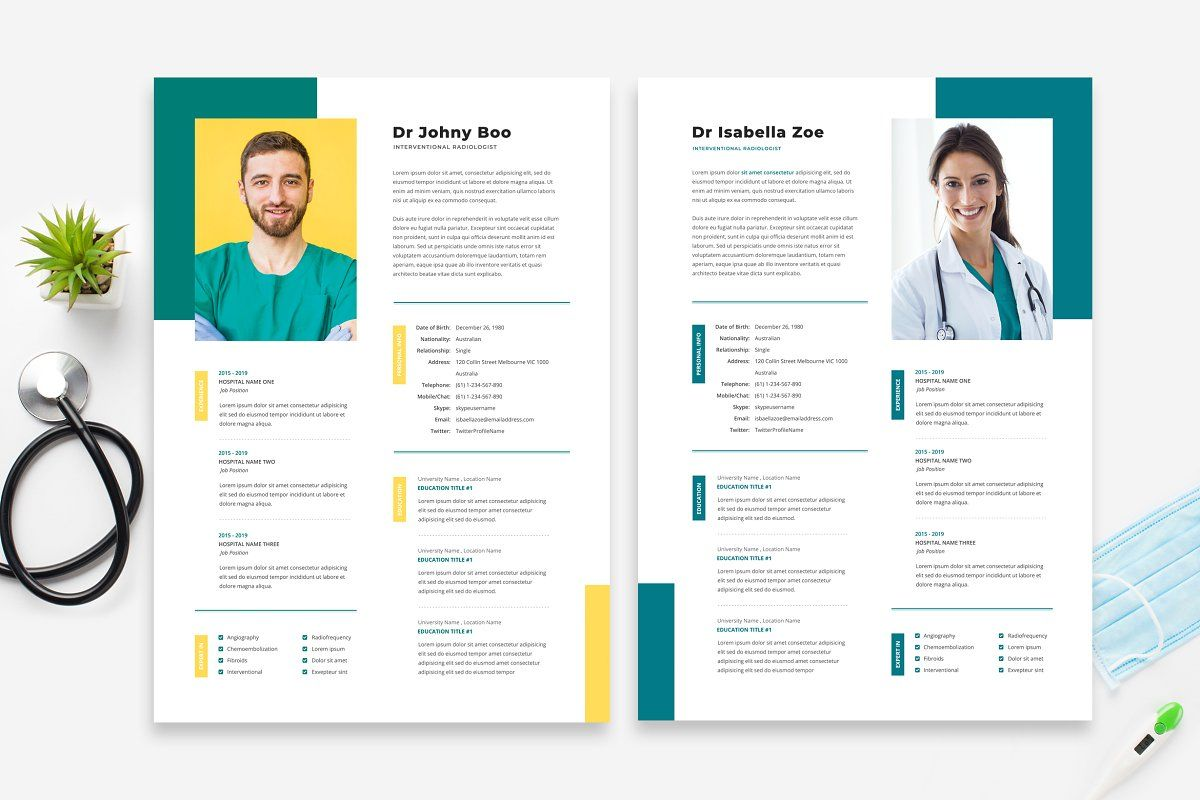 Doctor Resume Cv Template 15 Cv Template Resume Cv Resume Design Template