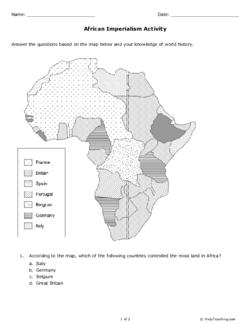 imperialism in africa map worksheet