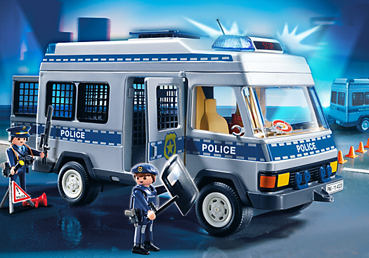 Fourgon quip et policiers pm france playmobil france - Caserne de police playmobil ...