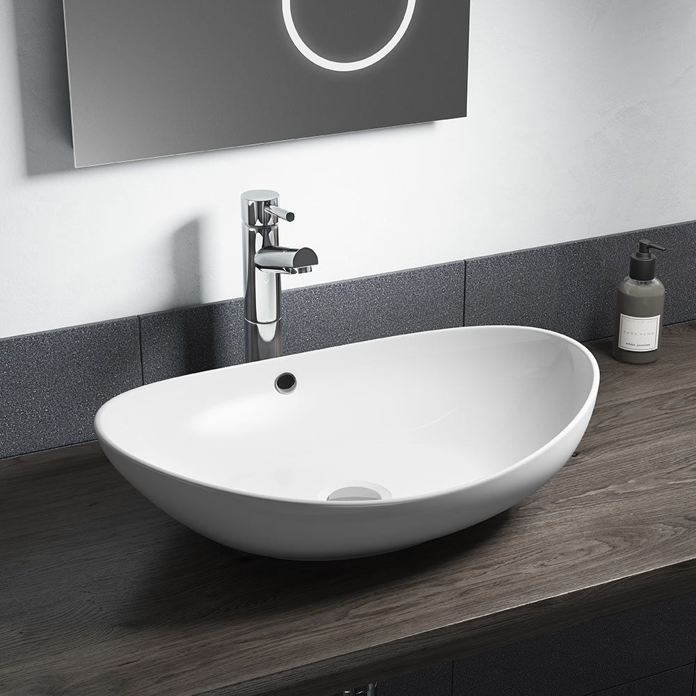 Lexie Oval 587mm Countertop Basin One Tap Hole Countertop
