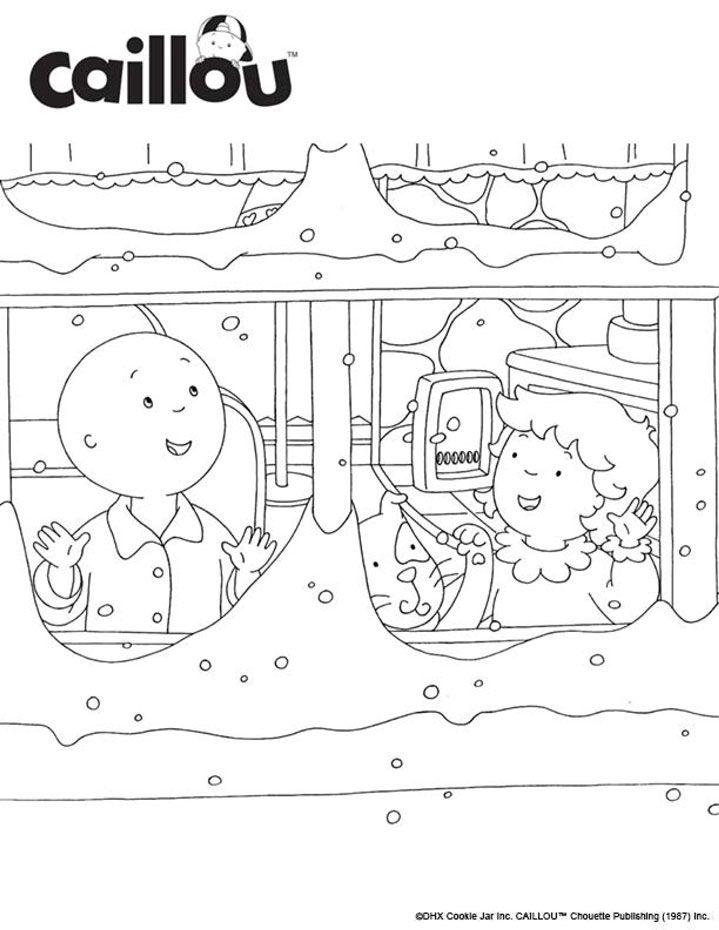 Caillou Holiday Fun – Let it Snow Coloring Sheet!   caillou kaapo ...