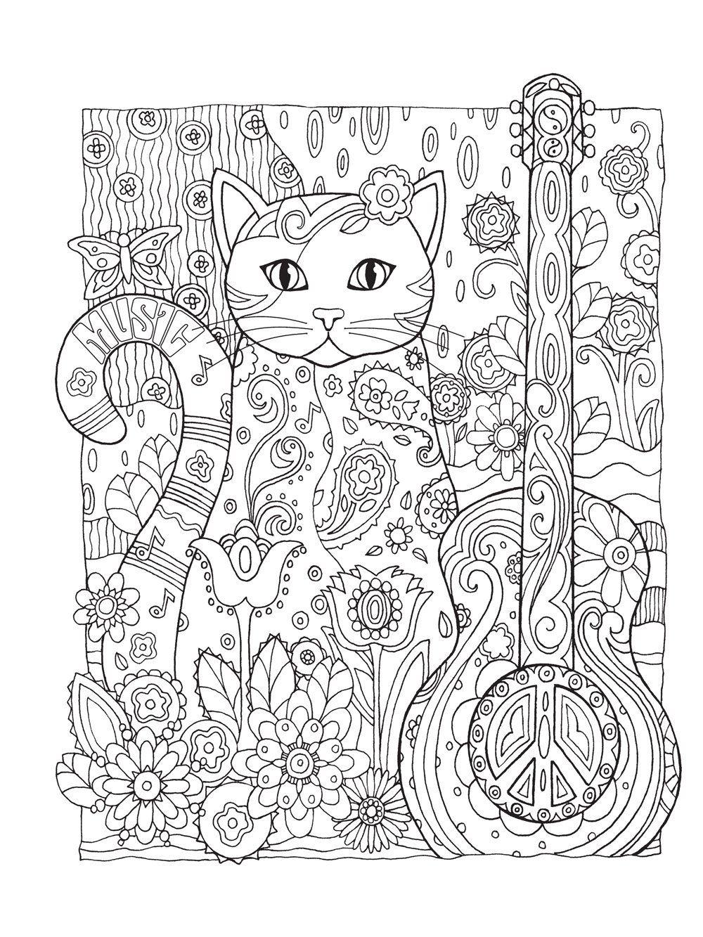 Gatos O Livro De Colorir Livros Na Amazon Com Br Cat