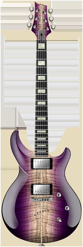 2015 Diamond Guitars Monarch FM - Amethyst Natural Burst Electric Guitar