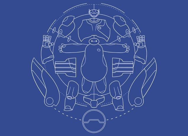 Baymax blueprint by joe wright on mens t shirts threadless baymax blueprint by joe wright on mens t shirts threadless malvernweather Choice Image
