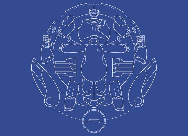 Baymax blueprint by joe wright on mens t shirts threadless baymax blueprint by joe wright on mens t shirts threadless malvernweather Images